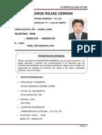 CV corte