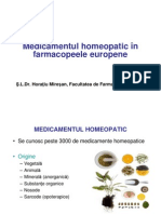 Medicamentul Homeopatic in Farmacopeele Europene