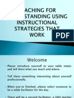 Teaching for Understanding Using Instructional Strategies That Work