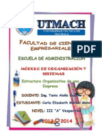 Estructura Organizativa de Una Empresa