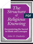 Dadosky, John - The Structure of Religious Knowing - Eliade and Lonergan
