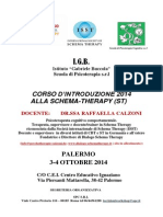 Brochure Schema Therapy Palermo IGB 3-4 Ottobre 2014