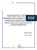 Push and Pull Factors Towards and Against a Common European Migration Policy