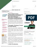 Finanziamenti Poste italiane imprese con PostepayCrowd