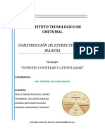 Especies Coniferas y Latifoliadas