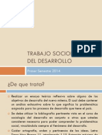Trabajo Sociología Del Desarrollo