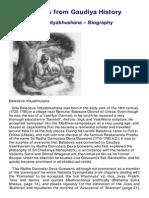 Baladeva Vidyabhusana Biography