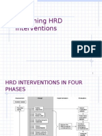Designing HRD Interventions