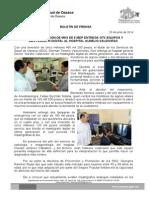 25/06/14  CON UNA INVERSIÓN DE MÁS DE 5 MDP ENTREGA EQUIPOS Y MASTÓGRAFO DIGITAL AL HOSPITAL AURELIO VALDIVIESO