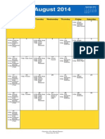 Oakmont United Methodist August 2014 Calendar