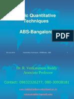 Quantitative Techniques Introduction