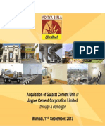 Investor Presentation Acquistion Jaypee Gujarat Assets