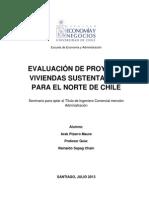 Evaluacion de Proyecto Vivienda Sostenible Chile