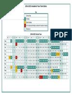 2014-2015 School Holiday Dates