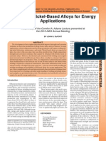 Welding of Ni Based Alloys for Energy Applications, J. DuPont WJ