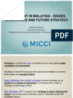 Micci - Investment in Malaysia - Issues, Challenges and Future Strategy