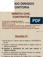 Direito Civil Contratos Monitoria