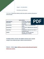Lição 1 EBD 1-06-14