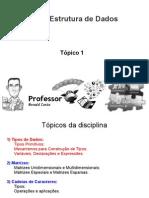 Tópico 1 - Tipos de Dados