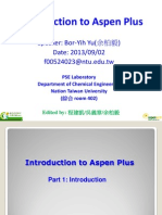 Introduction to Aspen Plus --2014