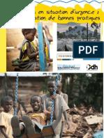 Manuel de Bonnes Pratiques en Education en Urgence India Version