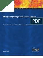 Ethiopia-Health Service Delivery (2009)