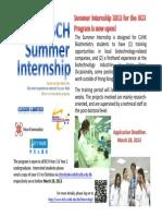 Summer Internship Poster_2012-2013