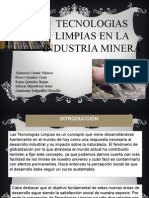 Tecnologia Limpia en Mineria