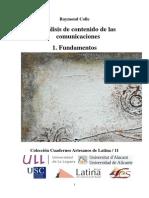 Colle 2011 Análisis de Contenido