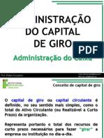 Administração Capital de Giro