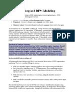 RFM Marketing and RFM Modeling
