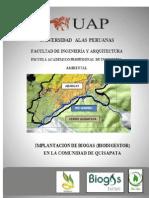 Implantación de Biogás en La Comunidad de Quisapata