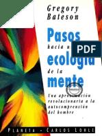 Bateson. Gregory Pasos Hacia Una Ecología de La Mente