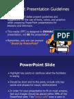 Powerpoint GPowerPointGuidelinesuidelines