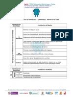 Ejemplo Matriz de Estrategias de Enseñanza y Aprendizaje - Proyecto de Aula