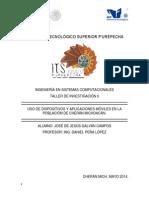 Uso de Dispositivos y Aplicaciones Moviles en La Poblacion de Cheran Michoacán