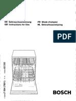 Instruction manual SGS4302 dishwasher-deutch
