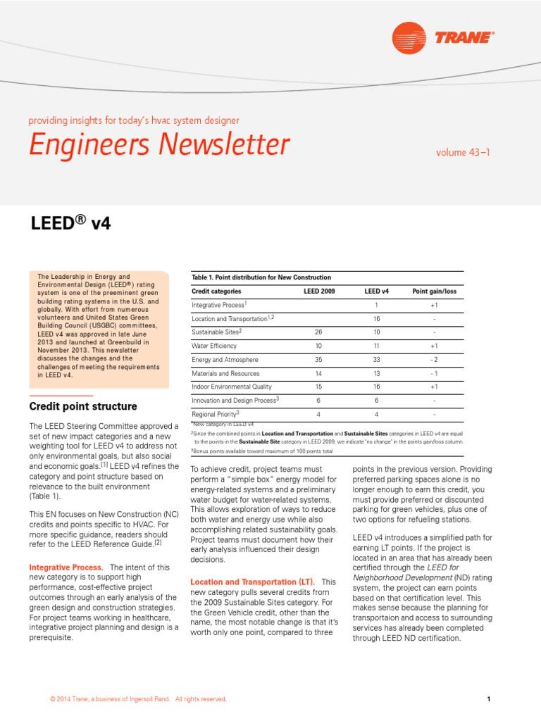 Engineers Leedv4 Leadership In Energy And Environmental Design