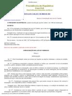 Consolidação Leis Do Trabalho - Decreto Lei 5.452 (Compilado)