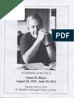 James H. Hayes Celebration of Life - June 21, 2014
