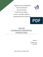 Normativa Ambiental (Taller)