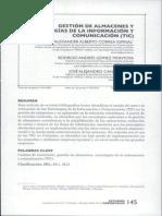 Gestion de Almacenes y Tecnologias de La Informacion y Comunicacion