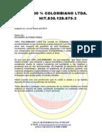 100% Colombiano Ltda 20 Años..