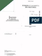 UNFV ANTROPOLOGIA Wolf, Eric R. - Europa y La Gente Sin Historia