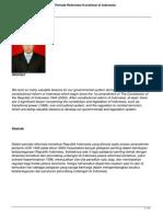 Tiga Pelajaran Penting Dalam Periode Reformasi Konstitusi Di Indonesia