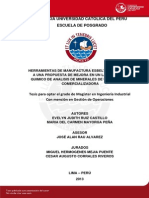 Ruiz Evelyn Manufactura Esbelta Mejora Laboratorio Quimico Analisis Minerales Empresa Comercializadora
