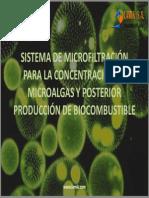 Sistema de Microfiltracion Para Concentracion de Microalgas