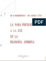 Humberto Mariotti - La Parapsicologia a La Luz de La Filosofia Espirita