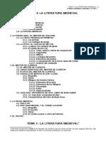 Tema 3 La Literatura Medieval Curso 2012 3