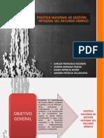 Politica de Gestion Integral de Recurso Hidrico